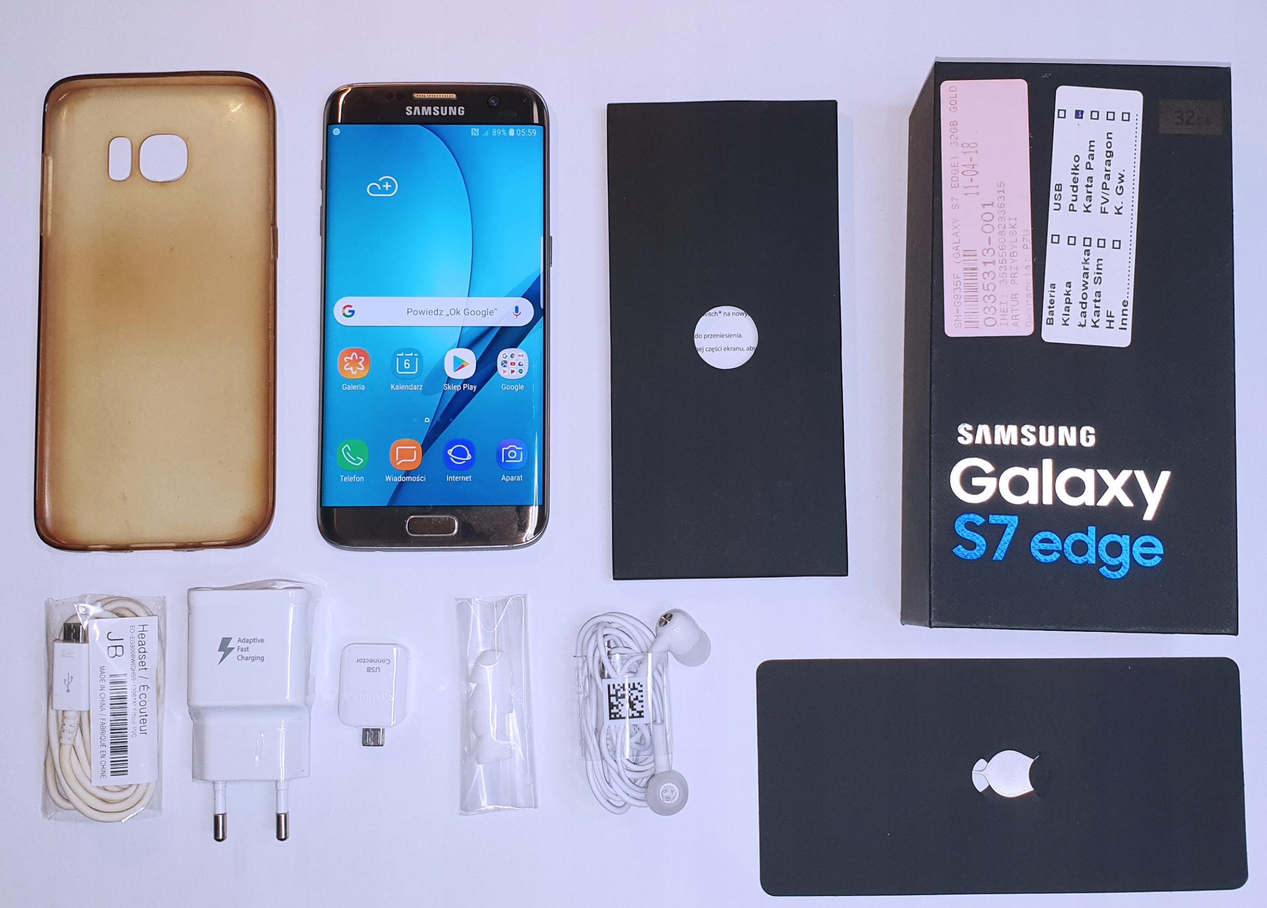 Samsung Galaxy S7 Edge Sm G935f Złoty Gold