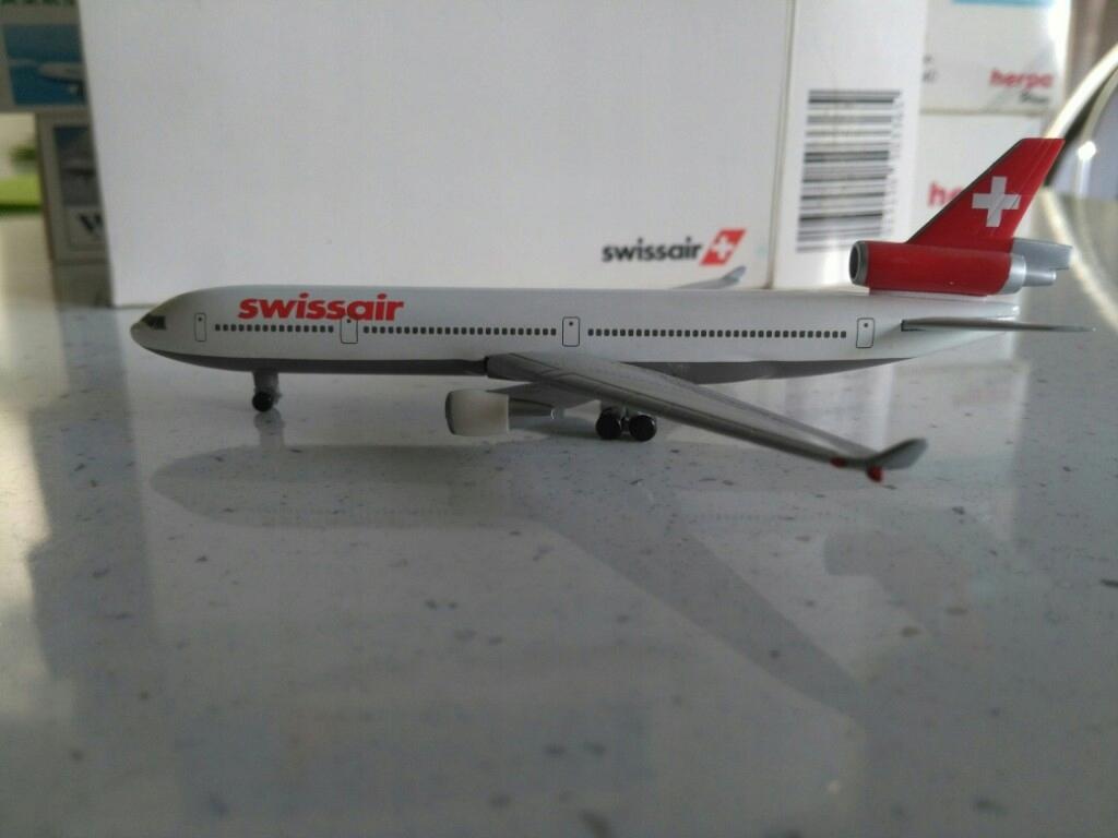 Model samolotu MD11 Swissair 1-500 Herpa