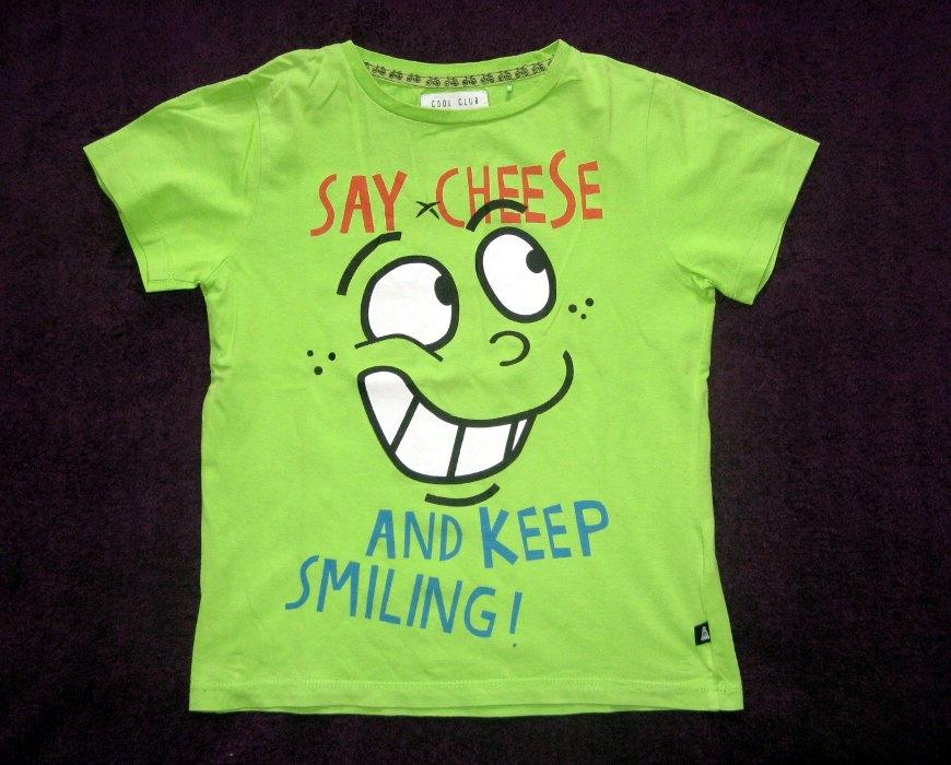 COOL CLUB T-shirt chłopięcy z nadrukiem 122
