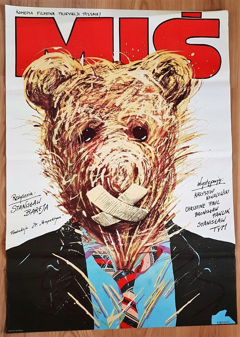Miś Pągowski Plakat Filmowy Oryginał 1981 70x100cm