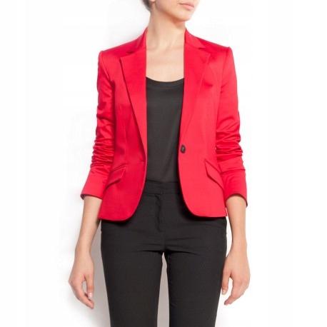 mango suit marynarka czerwona zakiet