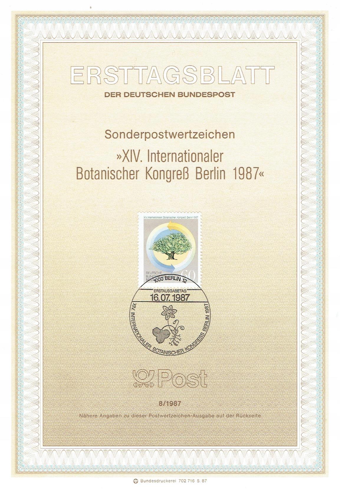 Berlin Zach. - Kongres Botaniczny - Mi. 786 ETB