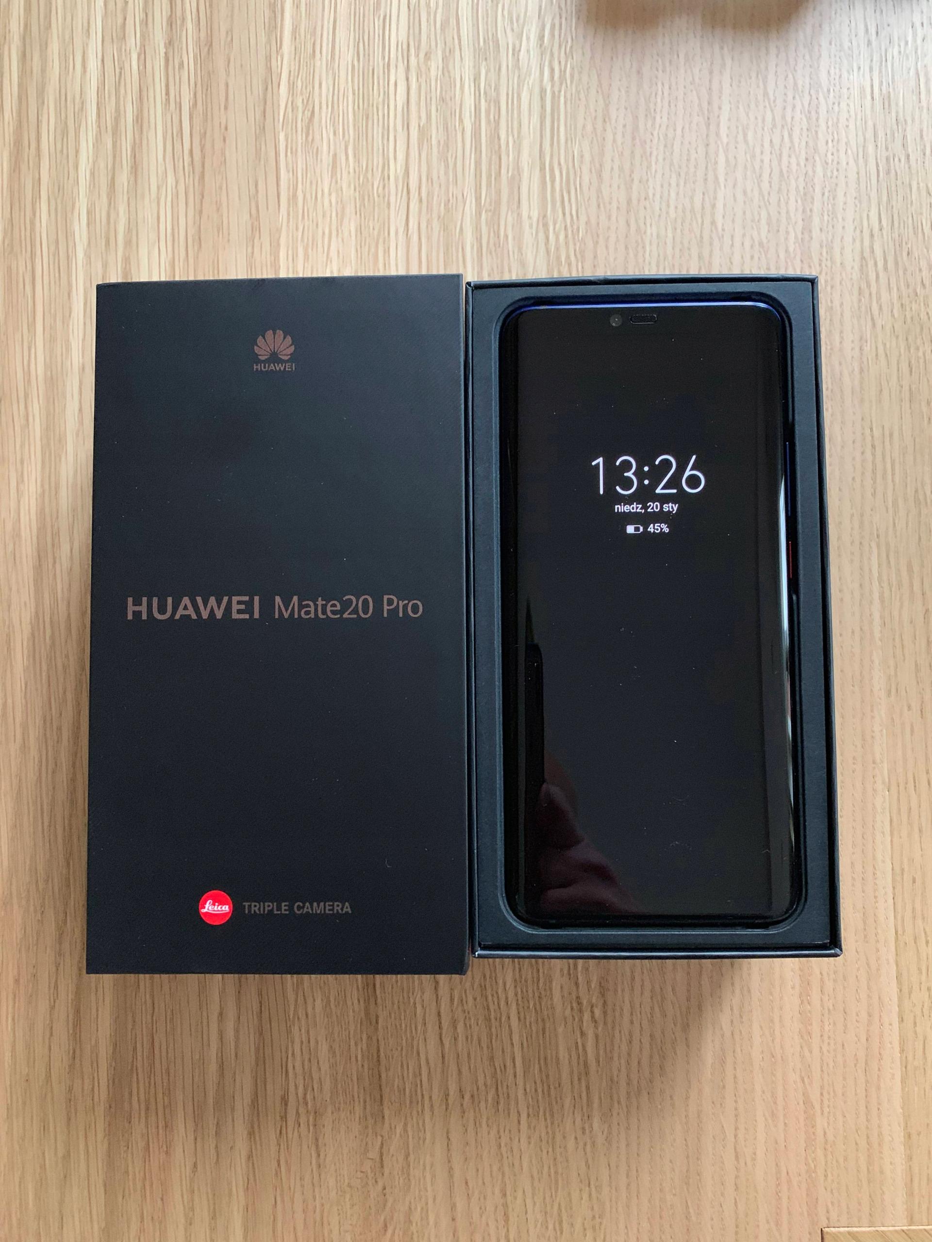 Huawei Mate 20Pro Twilight, jak nowy, BCM!!!