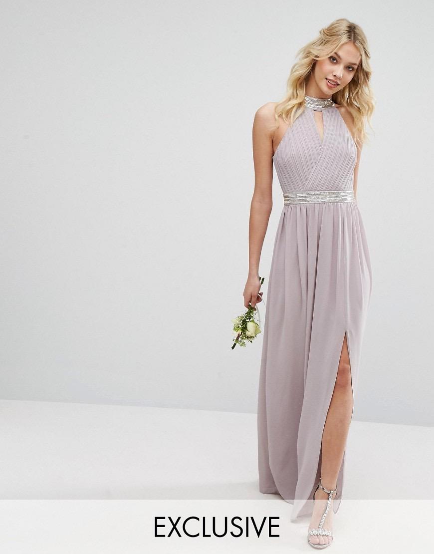 b42f8f0f9bb81d Sukienka maxi ASOS liliowa rozmiar S - 7832843840 - oficjalne ...