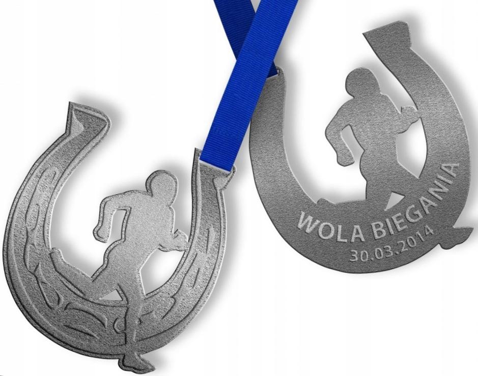 POZNAŃ Wielkopolska. WOLA BIEGANIA medal. PODKOWA