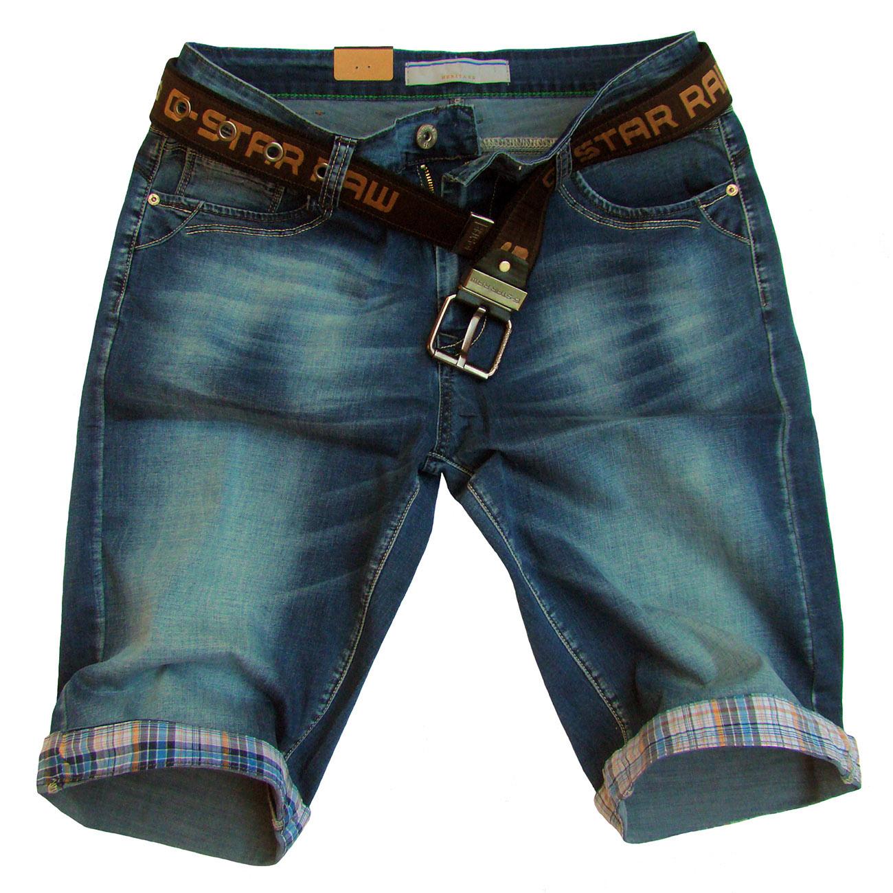 Szorty jeans pas 92cm wywijany mankiet 33 - S137