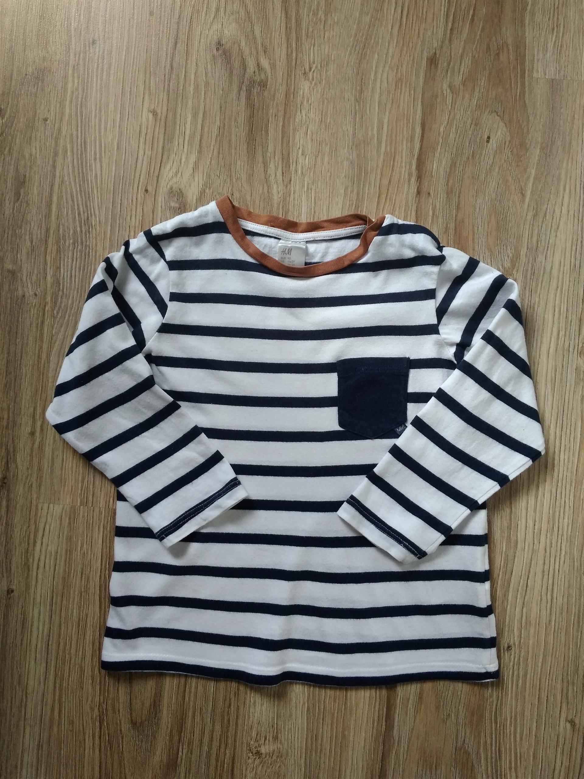 H&M bluzka, paski, 18-24 mies