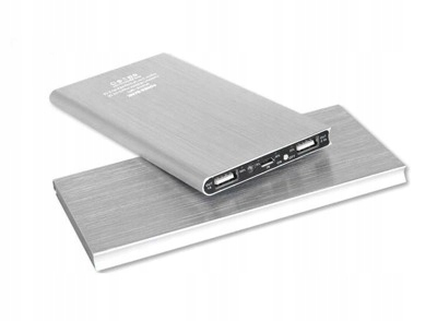 BATERIA ŁADOWARKA POWER BANK 20000mAh 2x USB SLIM