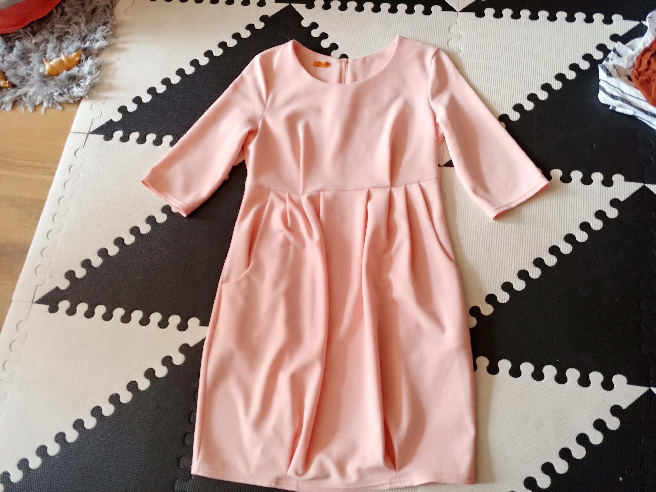DUE sukienka brzoskiniowa wiskoza kieszenie S bdb
