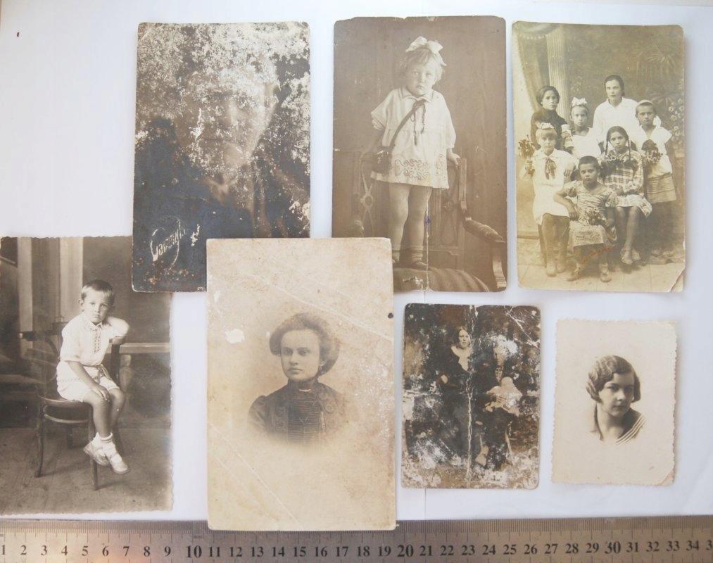 7 x Stare zdjęcie kobieta dziecko KRESY Rosja ZSRR