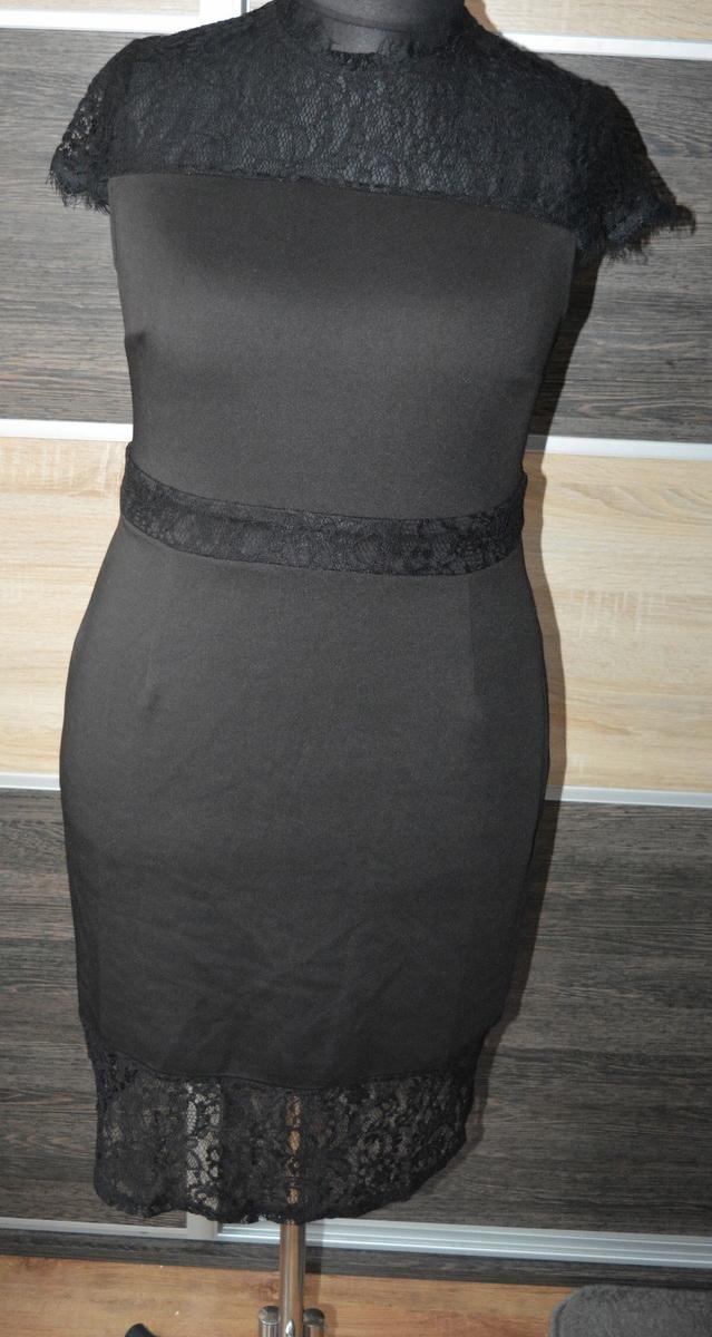 g* Ołówkowa sukienka z koronką 44