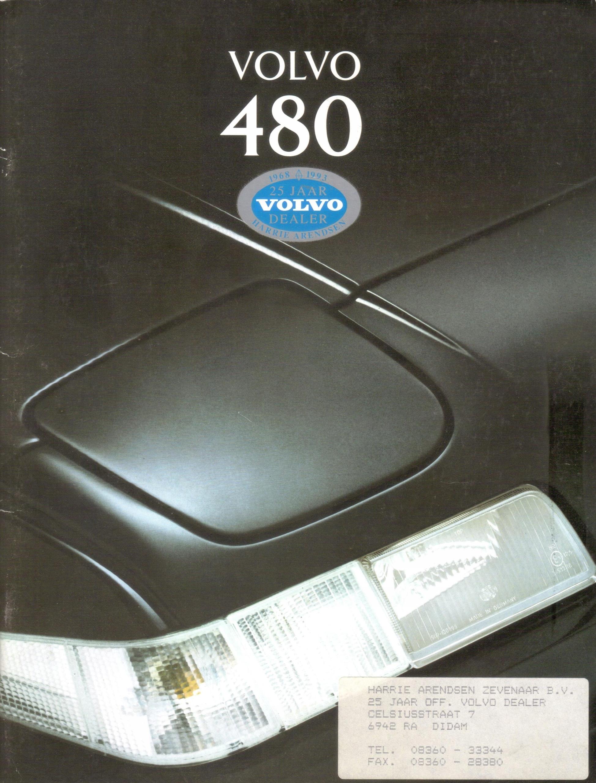 Prospekt VOLVO 480 1995