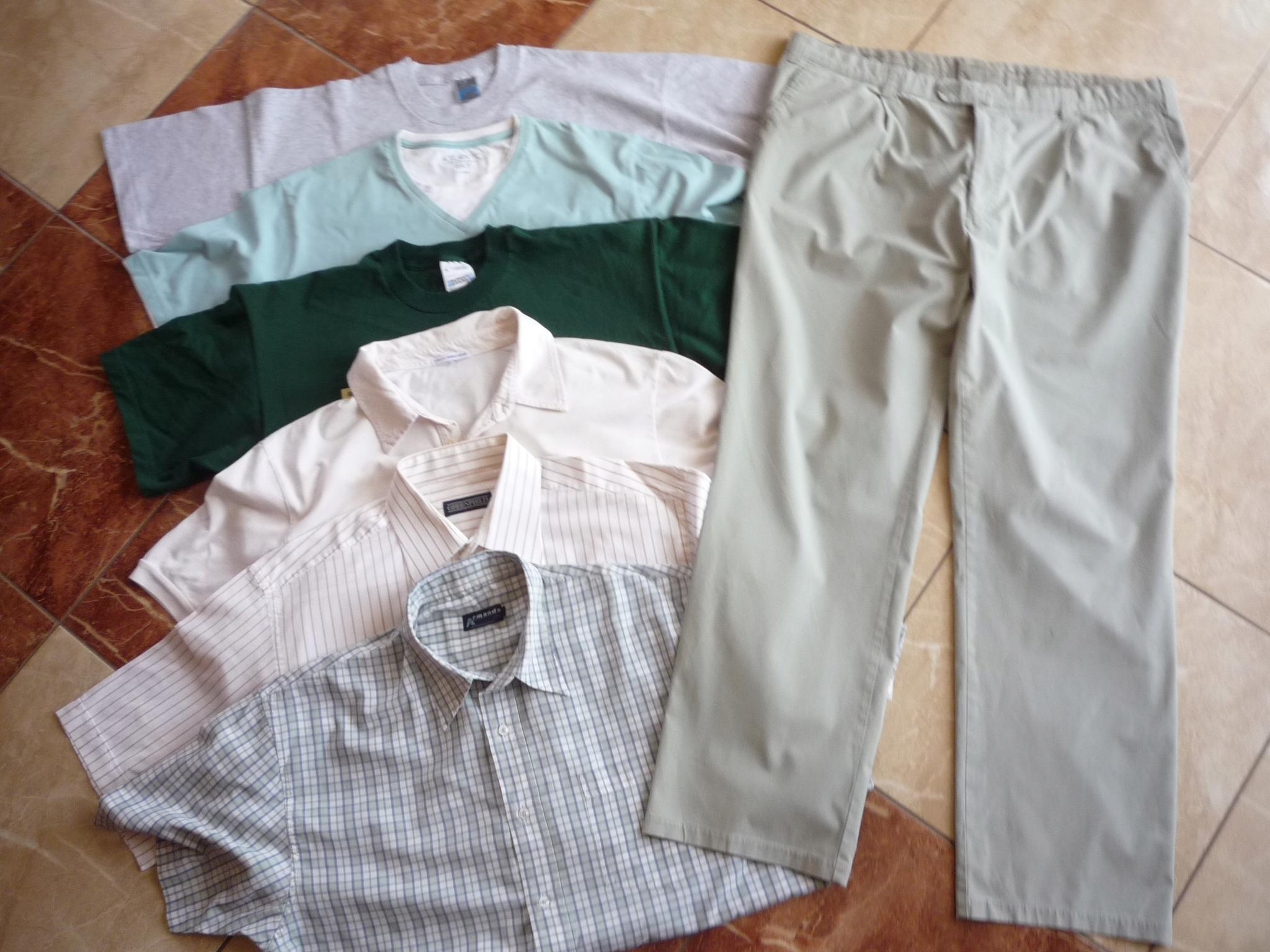 Spodnie lato koszule t-shirty pas 104 106 cm XXL