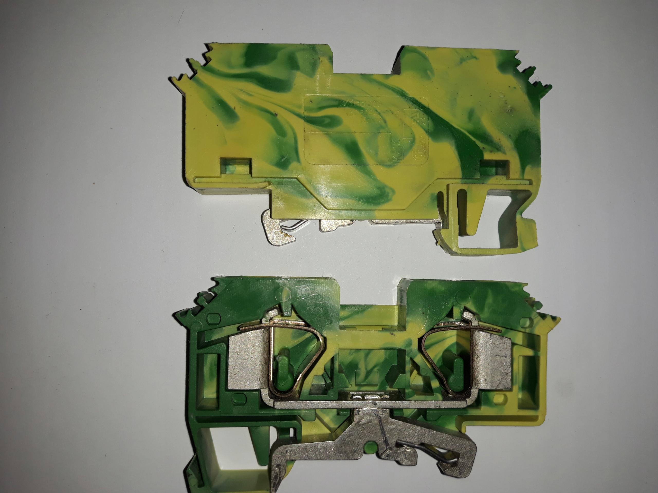 WAGO 283-607/999-950 2-p. złączka PE żółto-zielona