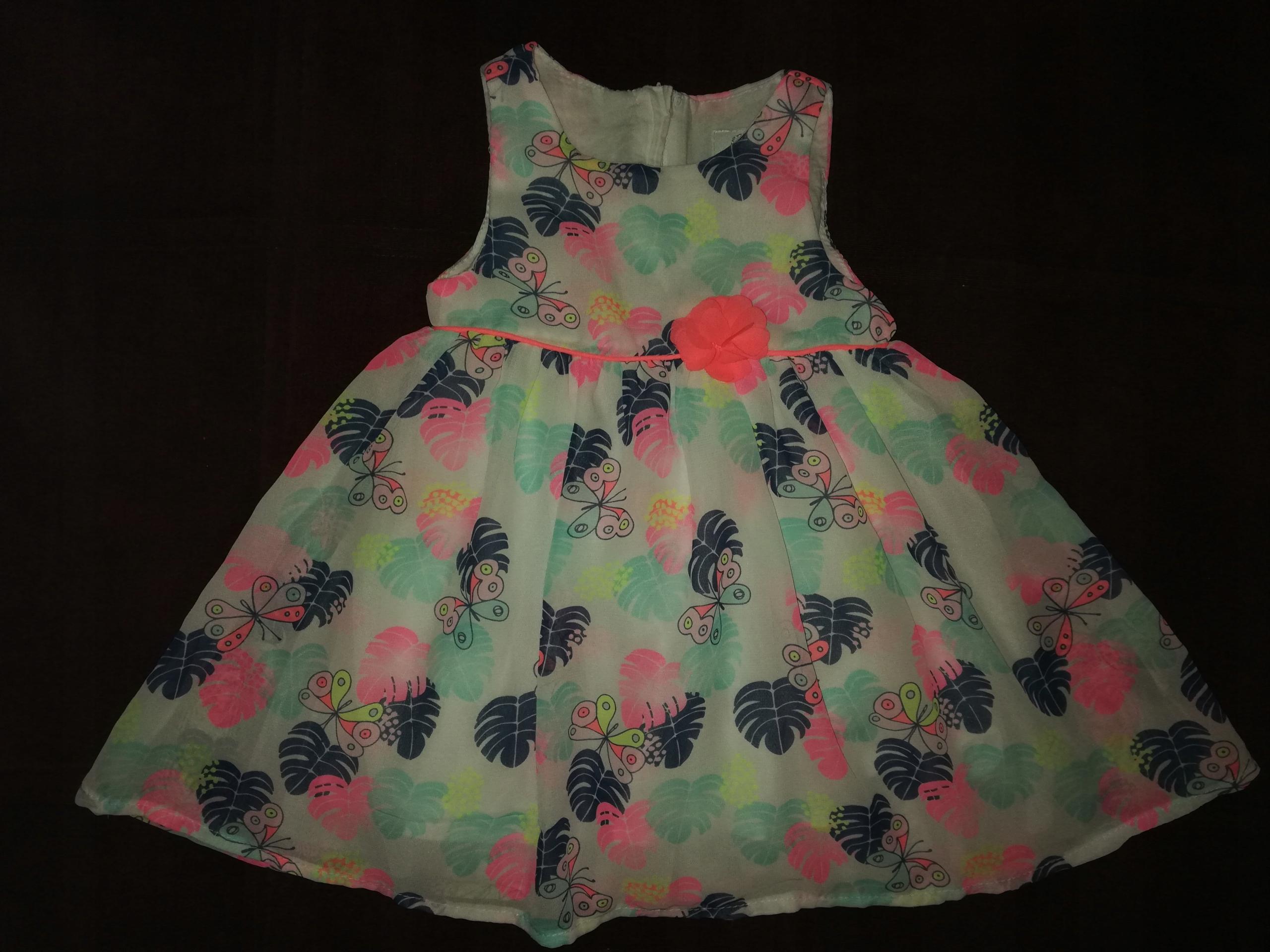 Cool Club sukienka kwiaty liście 74 Smyk