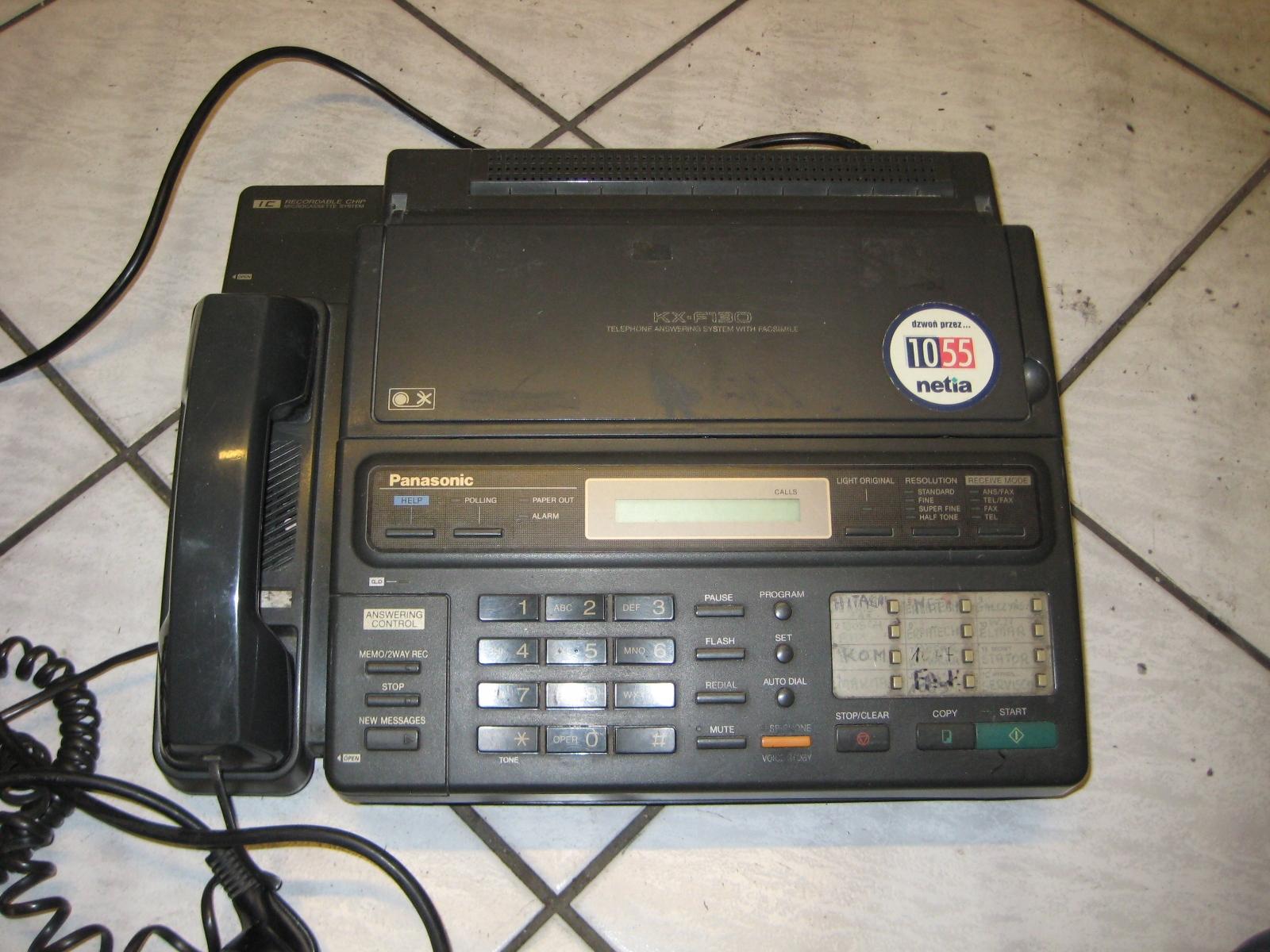 Panasonic KX-F130 telefon fax sekretarka