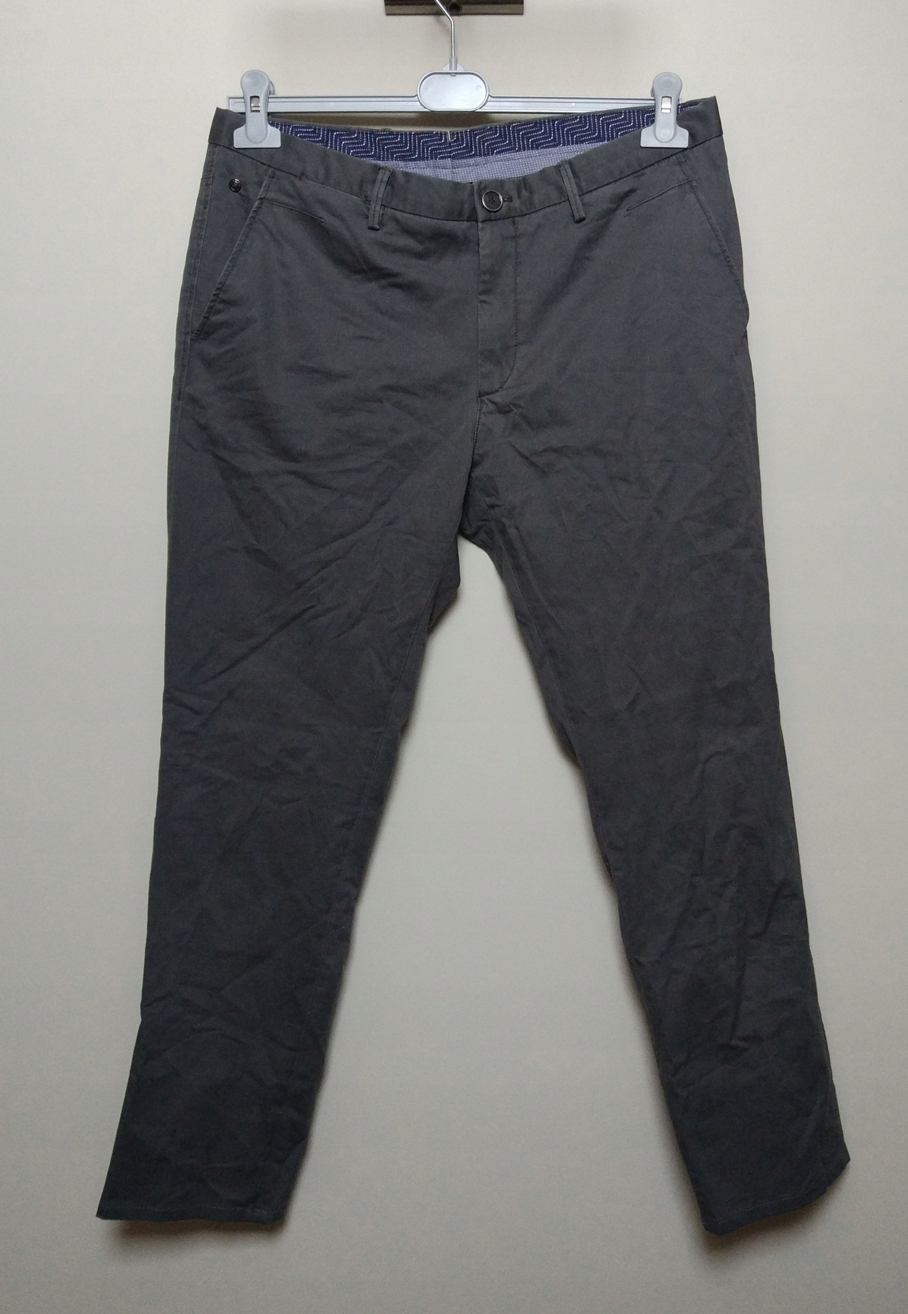 MASSIMO DUTTI szare spodnie chino slim fit 42