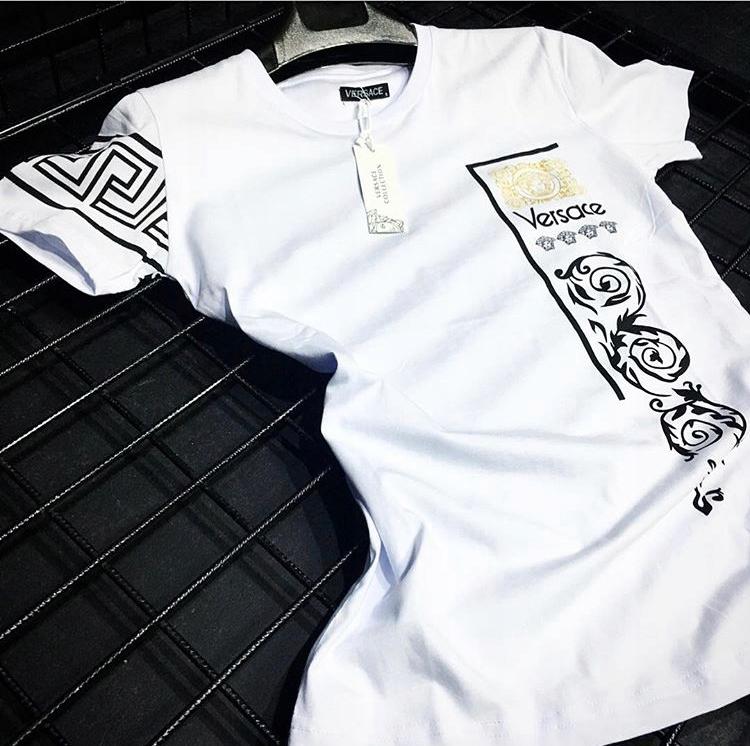 Versace - T-shirt męski - Rozmiar L - Koszulka