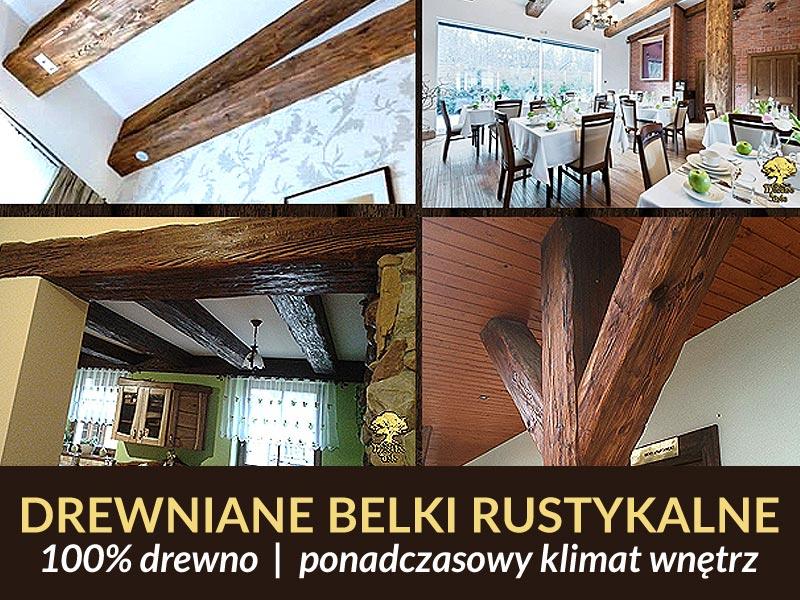 Belki Drewniane Stare Drewno Belki Rustykalne 7205299674