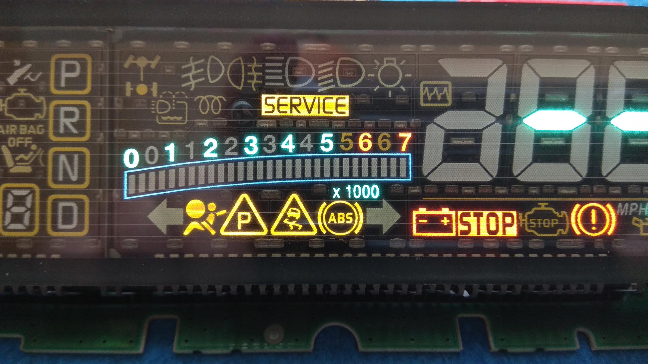 Naprawa licznika wyświetlacza Espace IV Scenic II