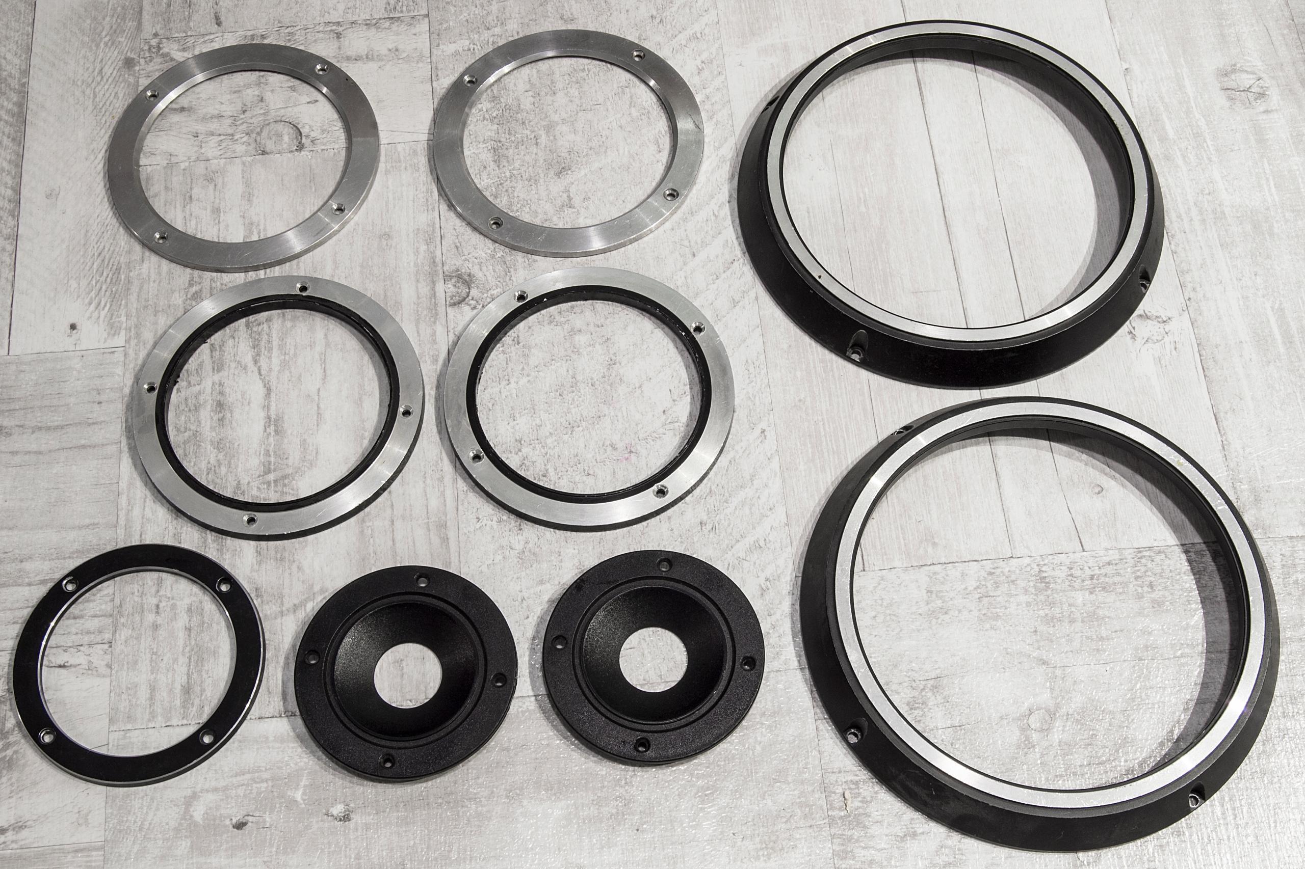 TONSIL Ramki pierścienie aluminiowe 7sztuk + tuby