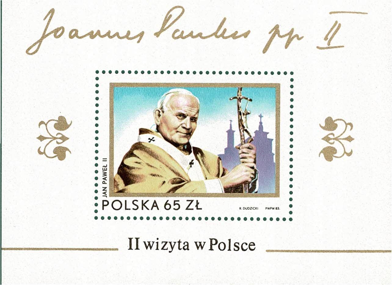 Fi bl 121(77) PAPIŻ JAN PAWEŁ II**