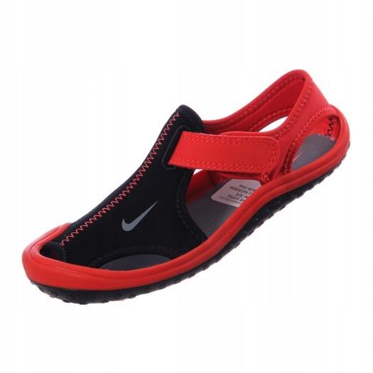*Nike*sandały Sunray CZARNO CZERWONE roz 31/19cm