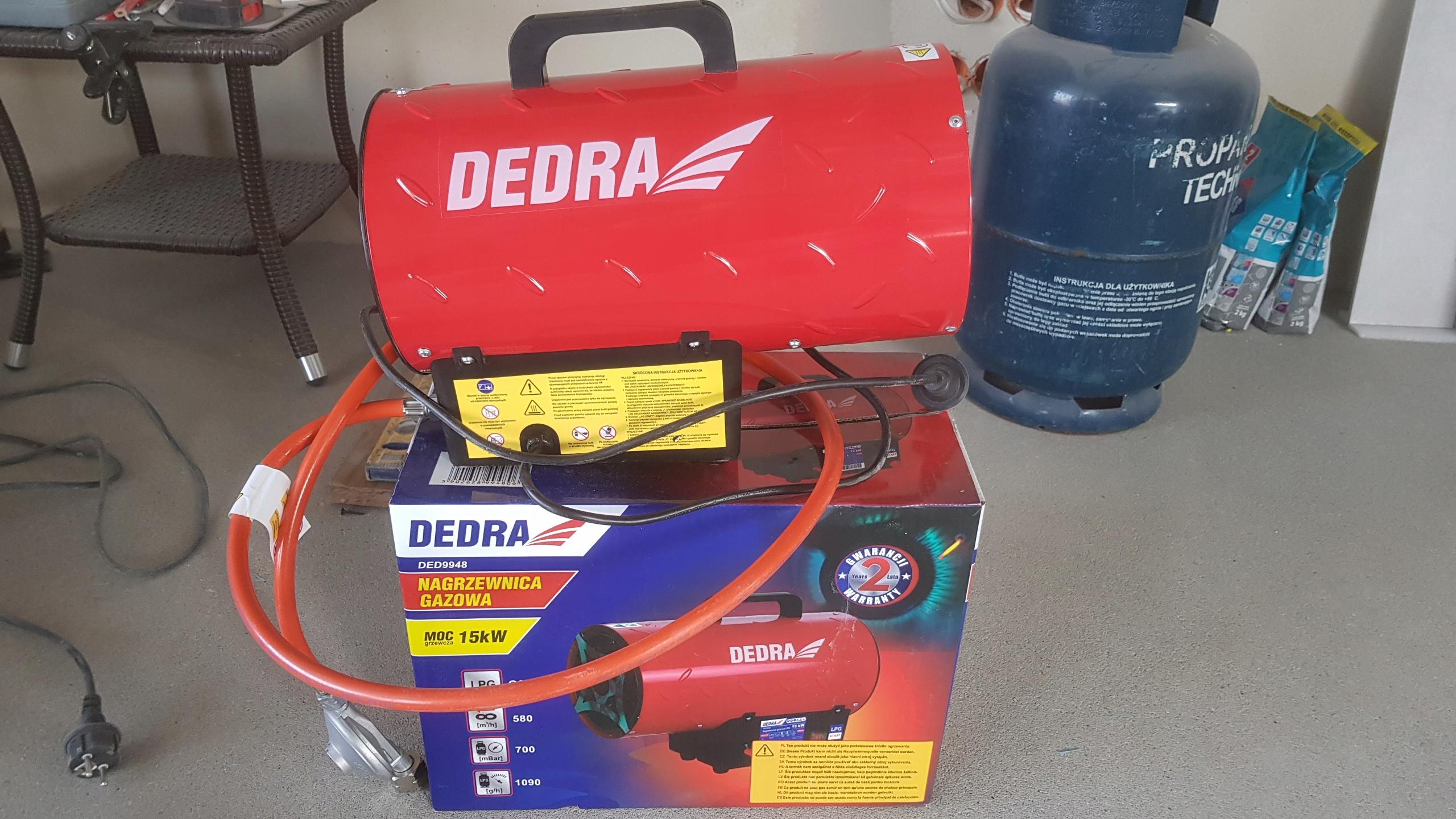 Nagrzewnica gazowa Dedra 15 kW