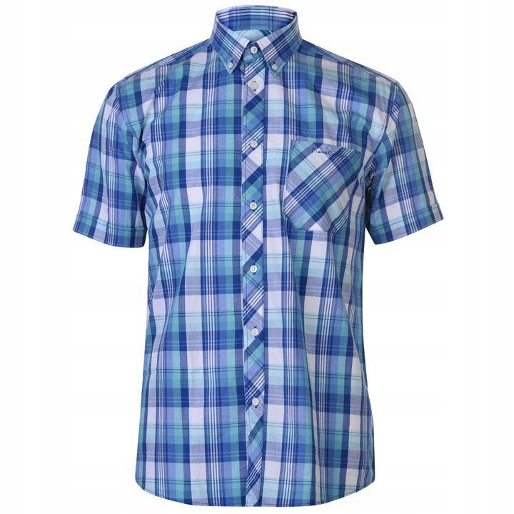 Koszula męska krata guziki Pierre Cardin 557263 XL