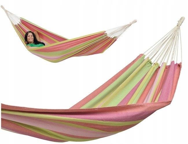 Hamak jednoosobowy Tahiti - Bubblegum 200x100cm #T
