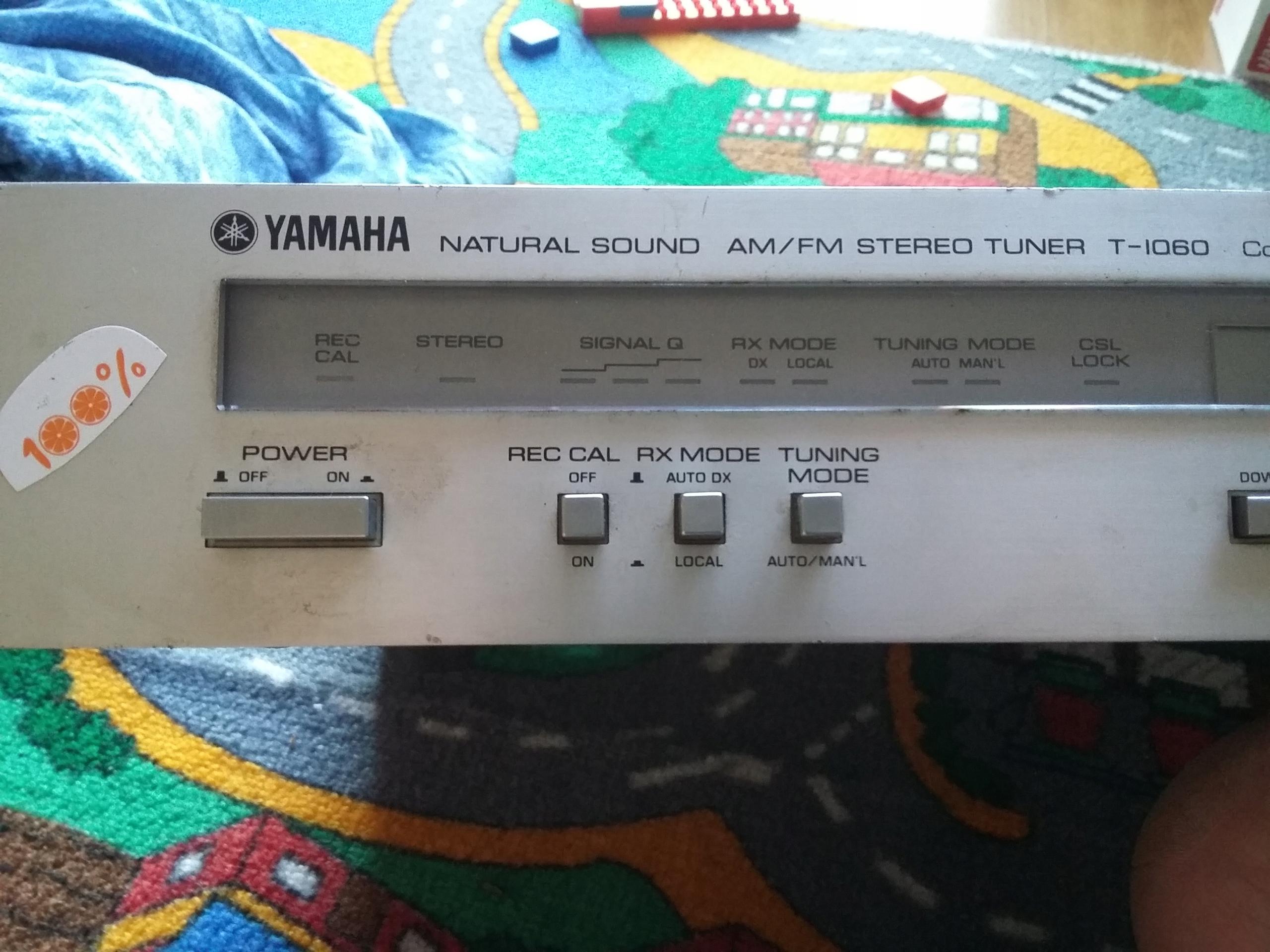 YAMAHA NATURAL SOUND AM/FM TUNER T-1060 RADIO FVAT