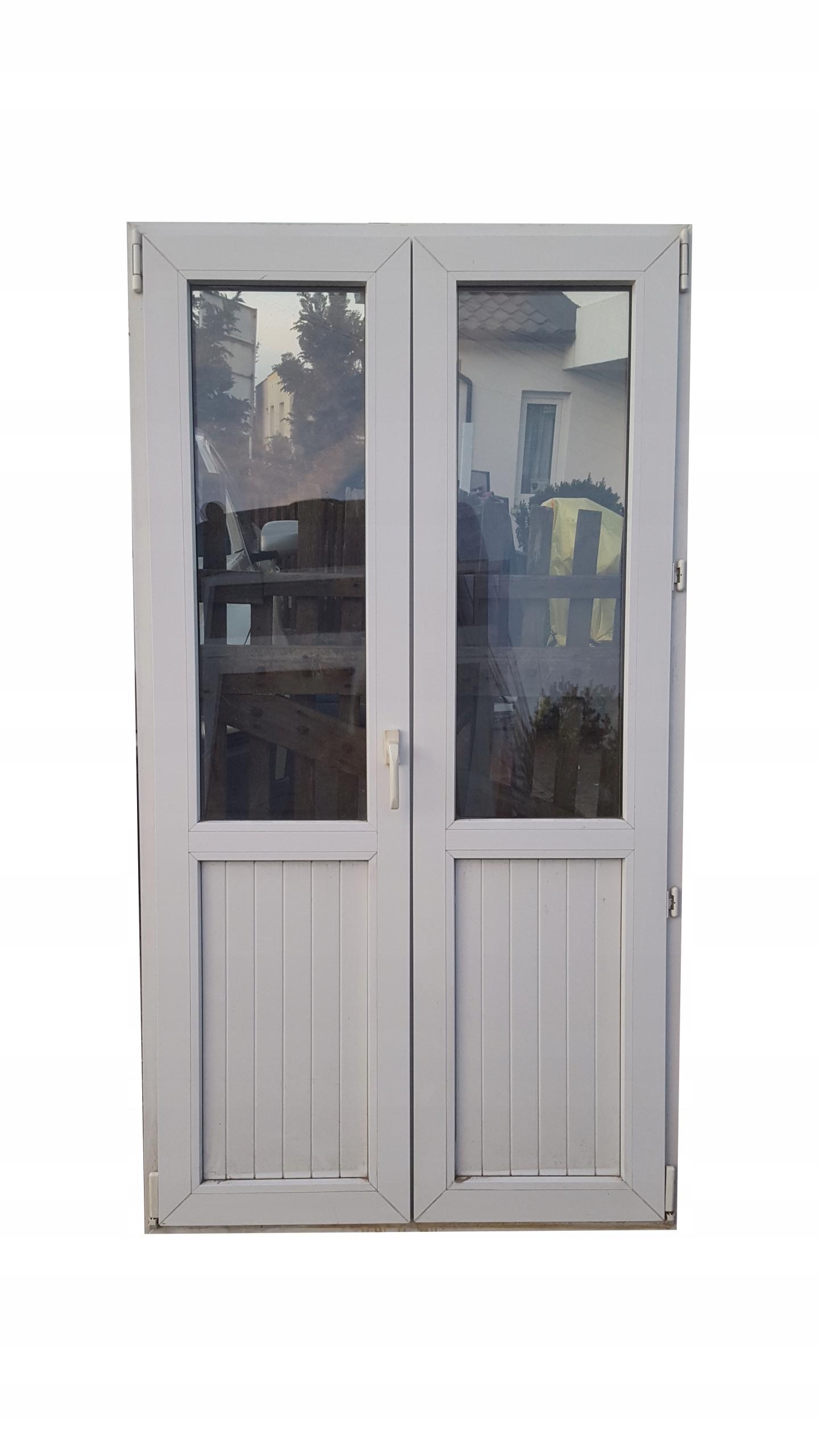 Drzwi Tarasowe Okno Tarasowe Białe Pcv Ru 105x193