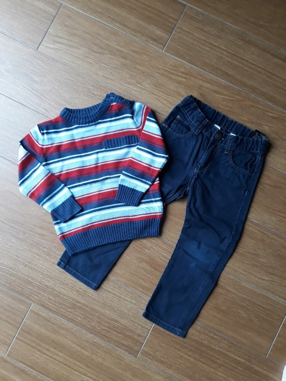 sweter spodnie 98 coccodrillo h&m
