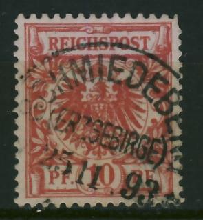Schmiedeberg 1893 r - stempel na zn. niemieckim