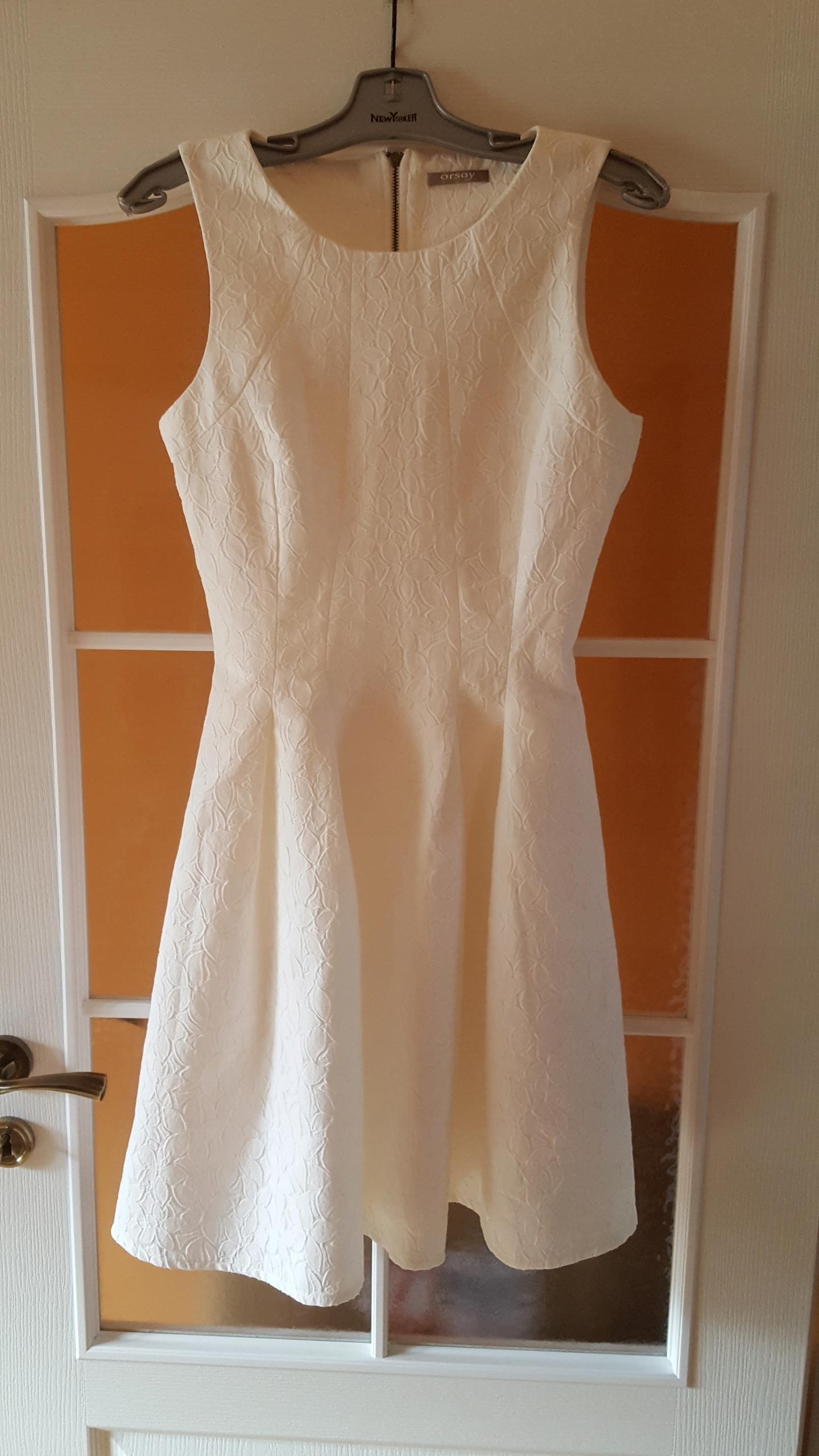 ORSAY sukienka ŚLUB wesele KREM żakard 36