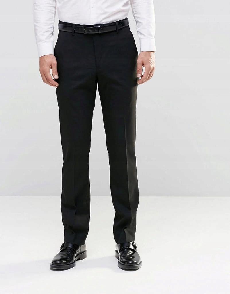 Czarne elganckie spodnie JOHN DEVIN 164
