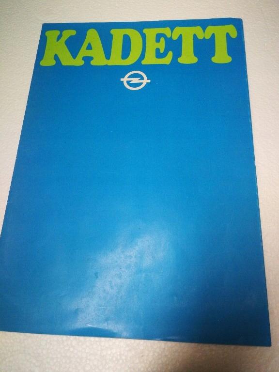 Opel Kadet 1979. Prospekt. oryginał.
