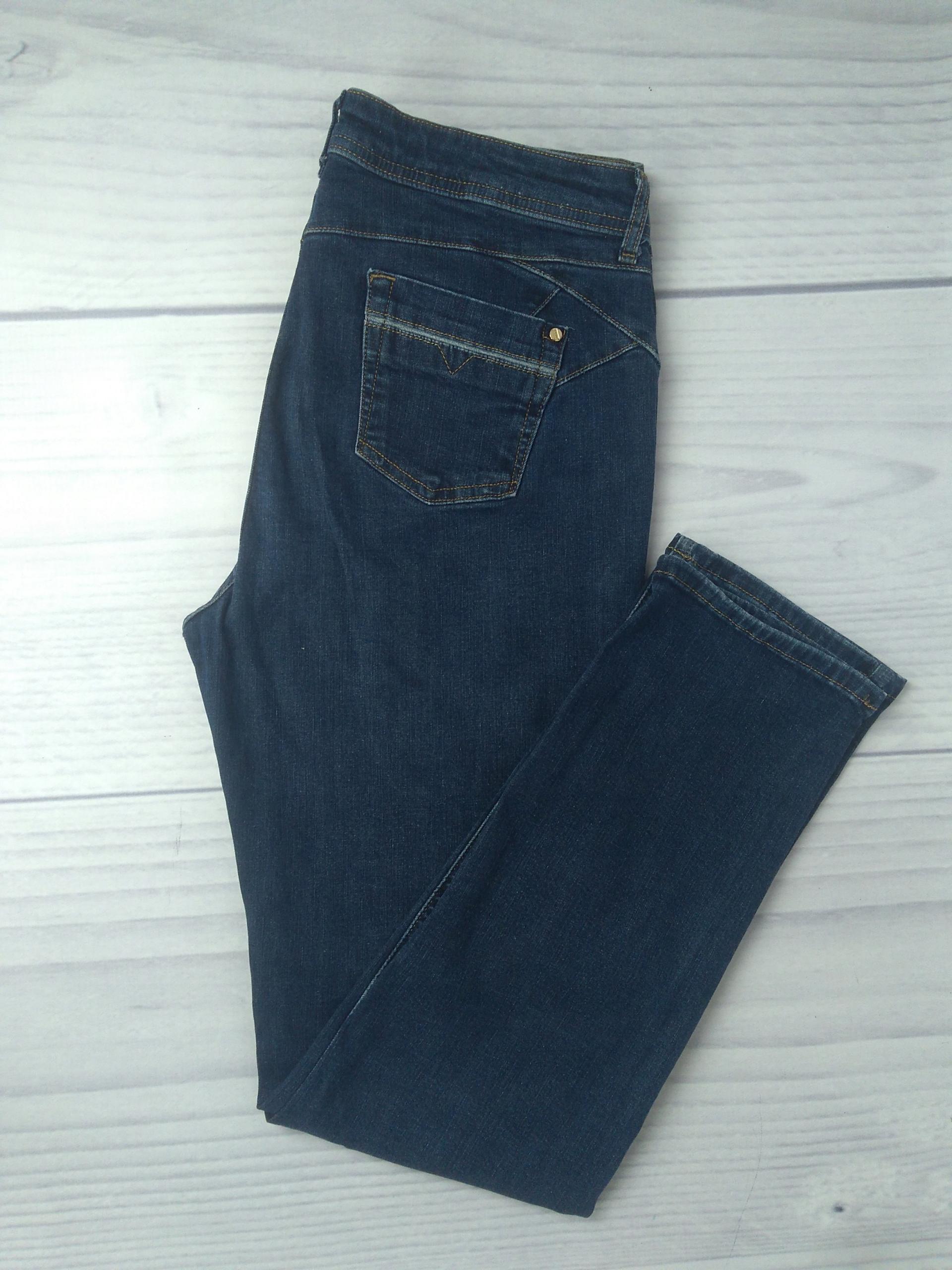 Rozm 42 Ciemne spodnie jeansy dżinsy Marks&S