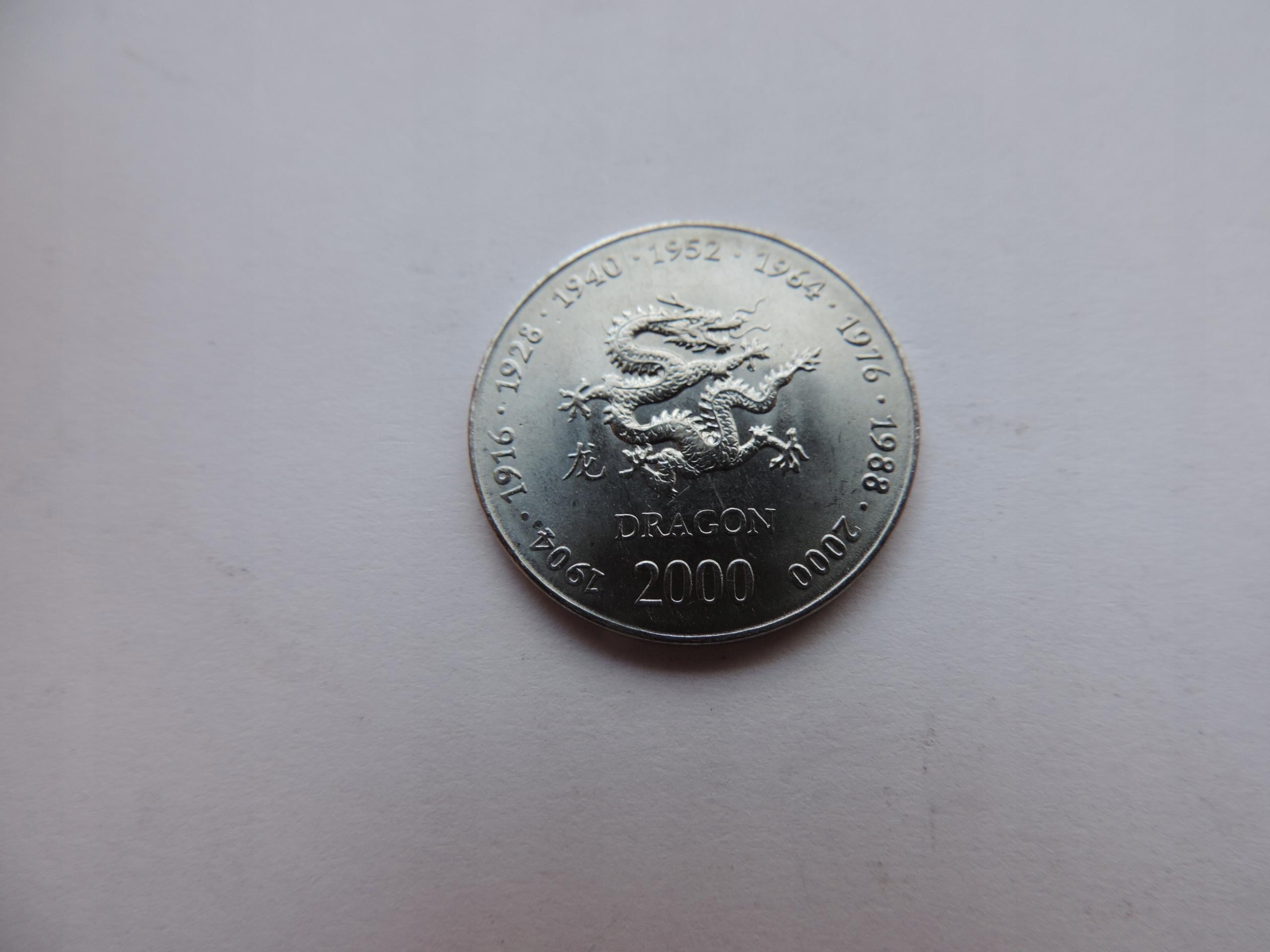 SOMALIA 10 SHILLINGS 2000 (Year of the Dragon)