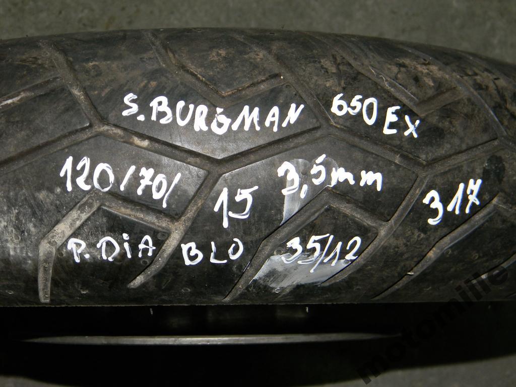 opona 120/70-15 PIRELLI DIABLO SCOOTER 3,5mm