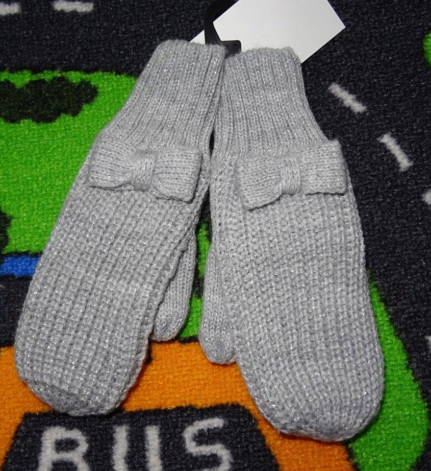 Nowe rękawiczki H&M 110/116 4-6l kokardki