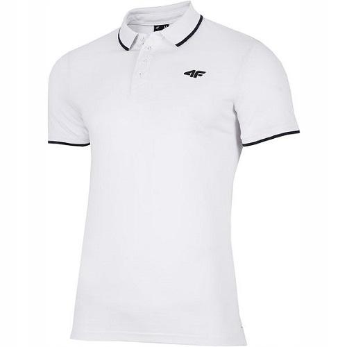 T-shirt męski sportowy 4F L19 TSM024 M biały lato