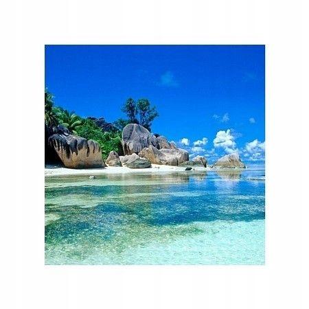 Seszele, plaża - plakat premium