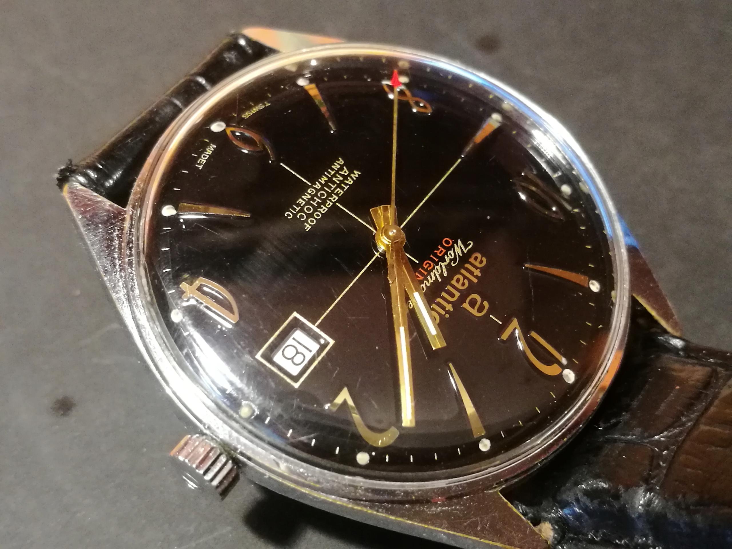 Zegarek Atlantic Worldmaster murzynek data śliczny