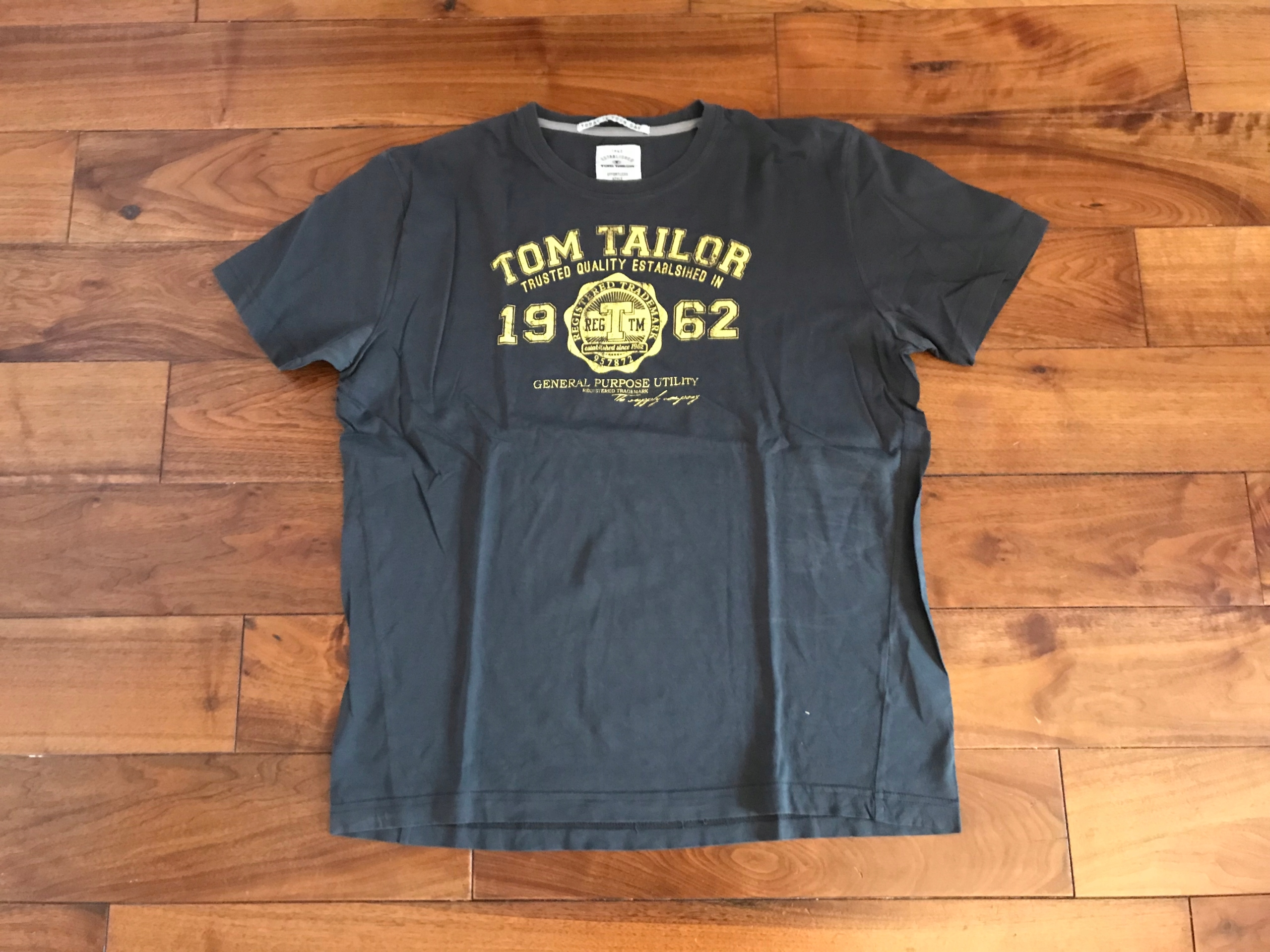 TOM TAILOR koszulka T-shirt grafitowa XL bawełna