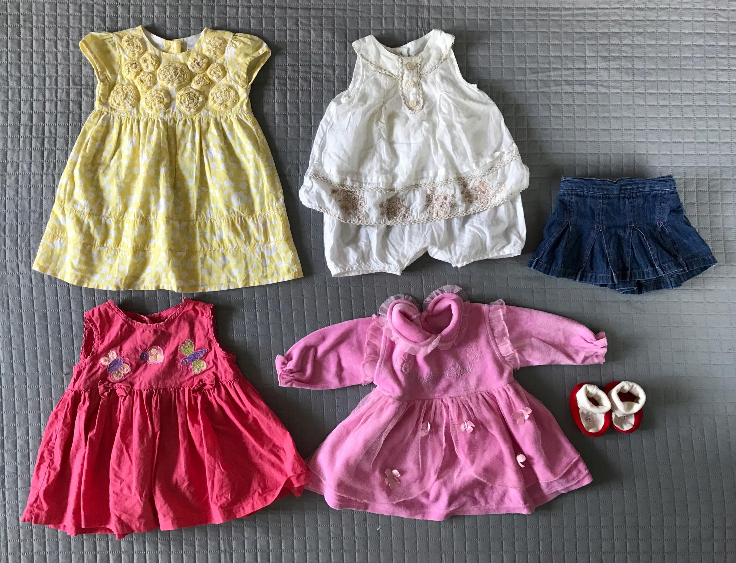 Zestaw wyprawka dla dziewczynki niemowlaka 0-6m