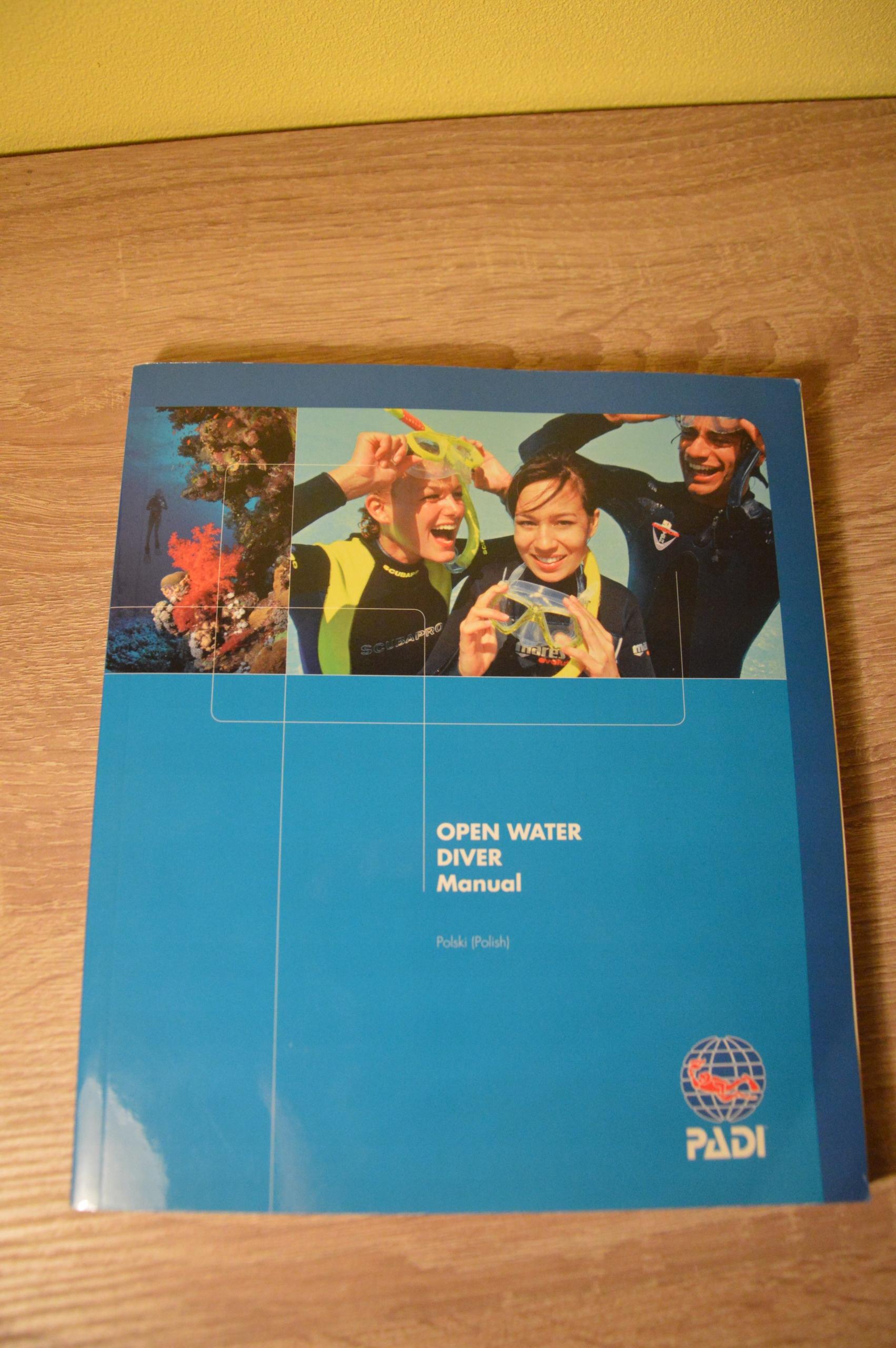 Open Water Diver podęcznik POLSKI jak NOWY
