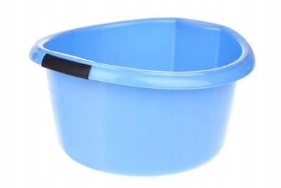 BENTOM Miska okrągła z uchwytami 10 L niebieska
