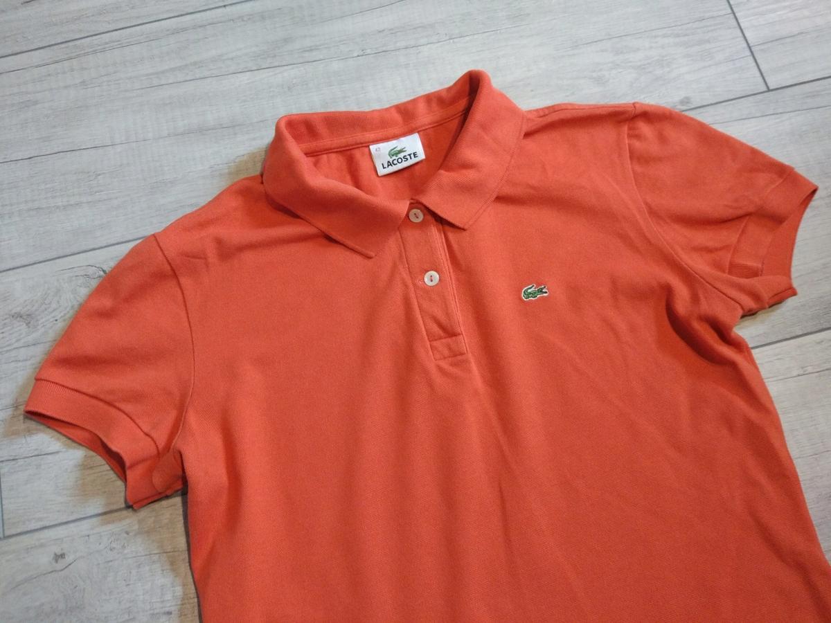 Lacoste Pomarańczowa Polówka Koszulka Polo S/M