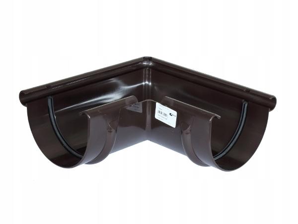 Narożnik zewnętrzny PVC-U Gamrat 100mm ciemny brąz